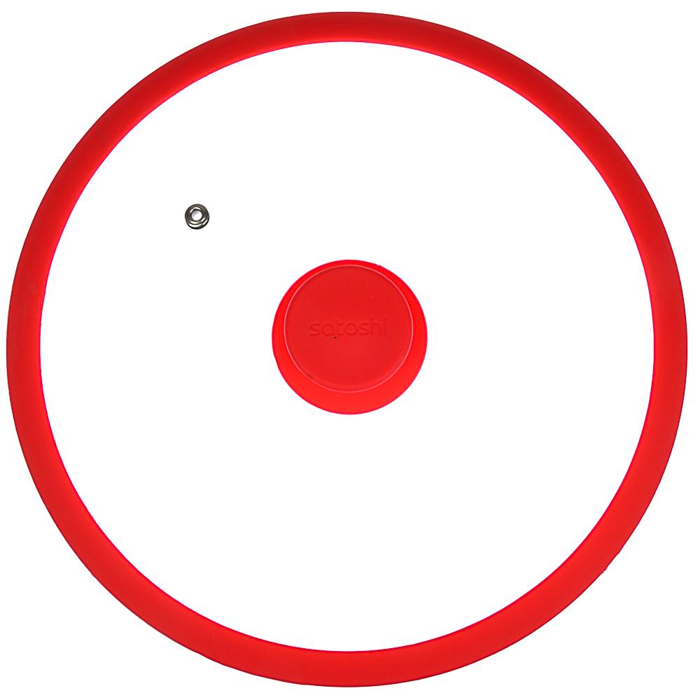 Крышка для сковороды d. 26 см SATOSHI, стекло/силикон с ручкой, 3 цвета - 3
