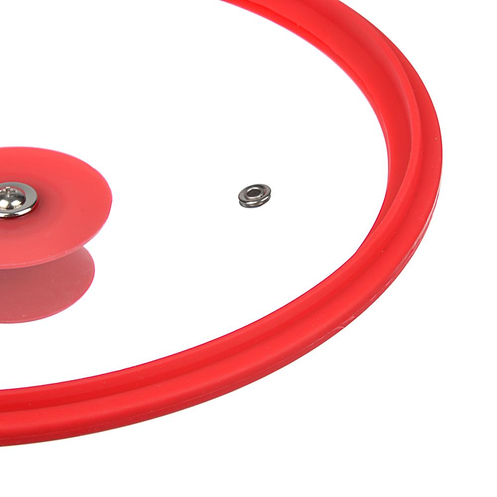 Крышка для сковороды d. 26 см SATOSHI, стекло/силикон с ручкой, 3 цвета - 4