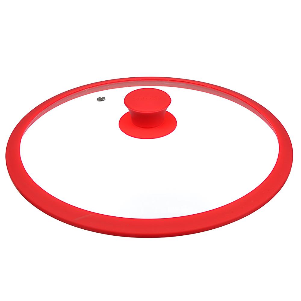 Крышка для сковороды d. 28 см SATOSHI, стекло/силикон с ручкой, 3 цвета - 2