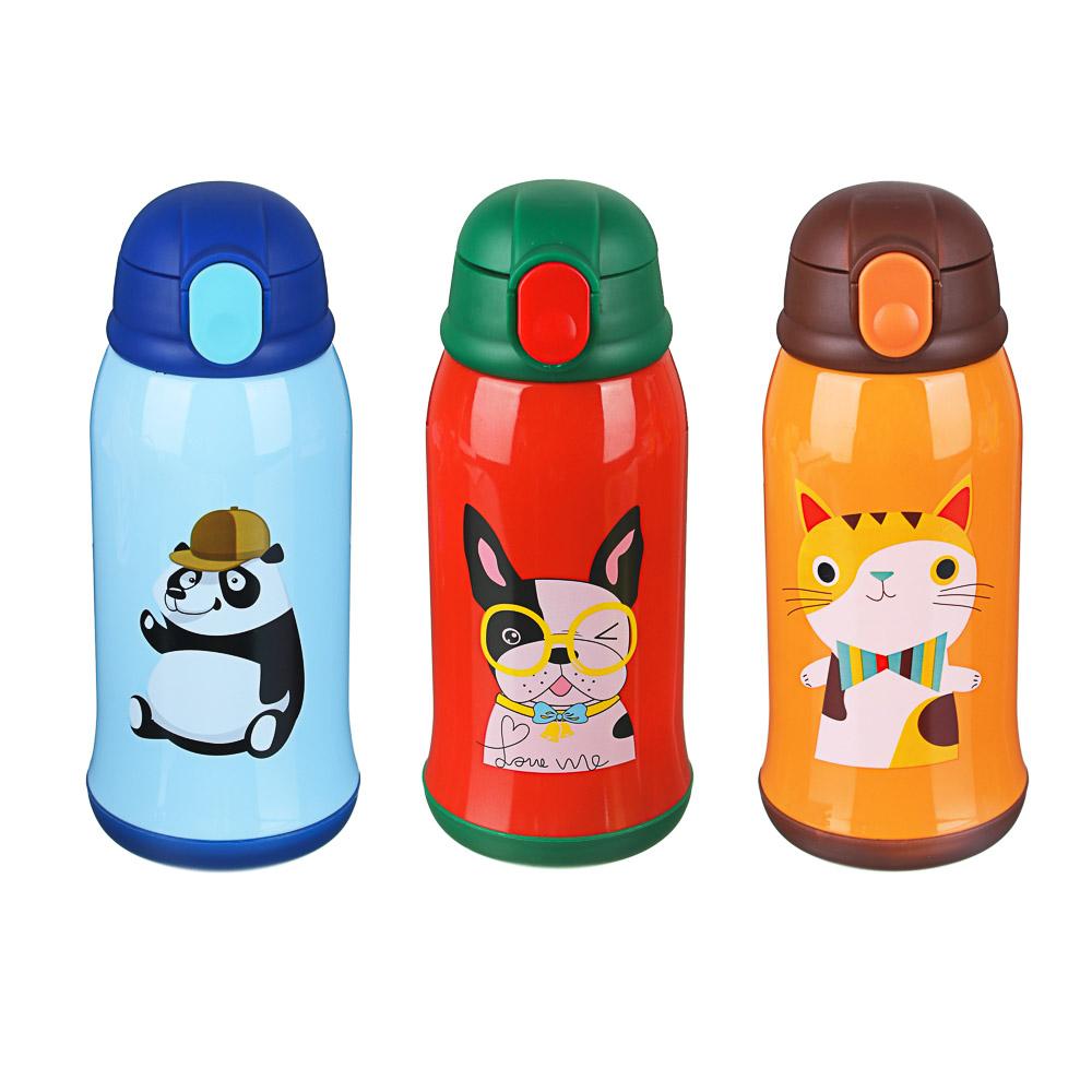 Термос детский в чехле 500 мл, пластик/сталь 3 дизайна - 2