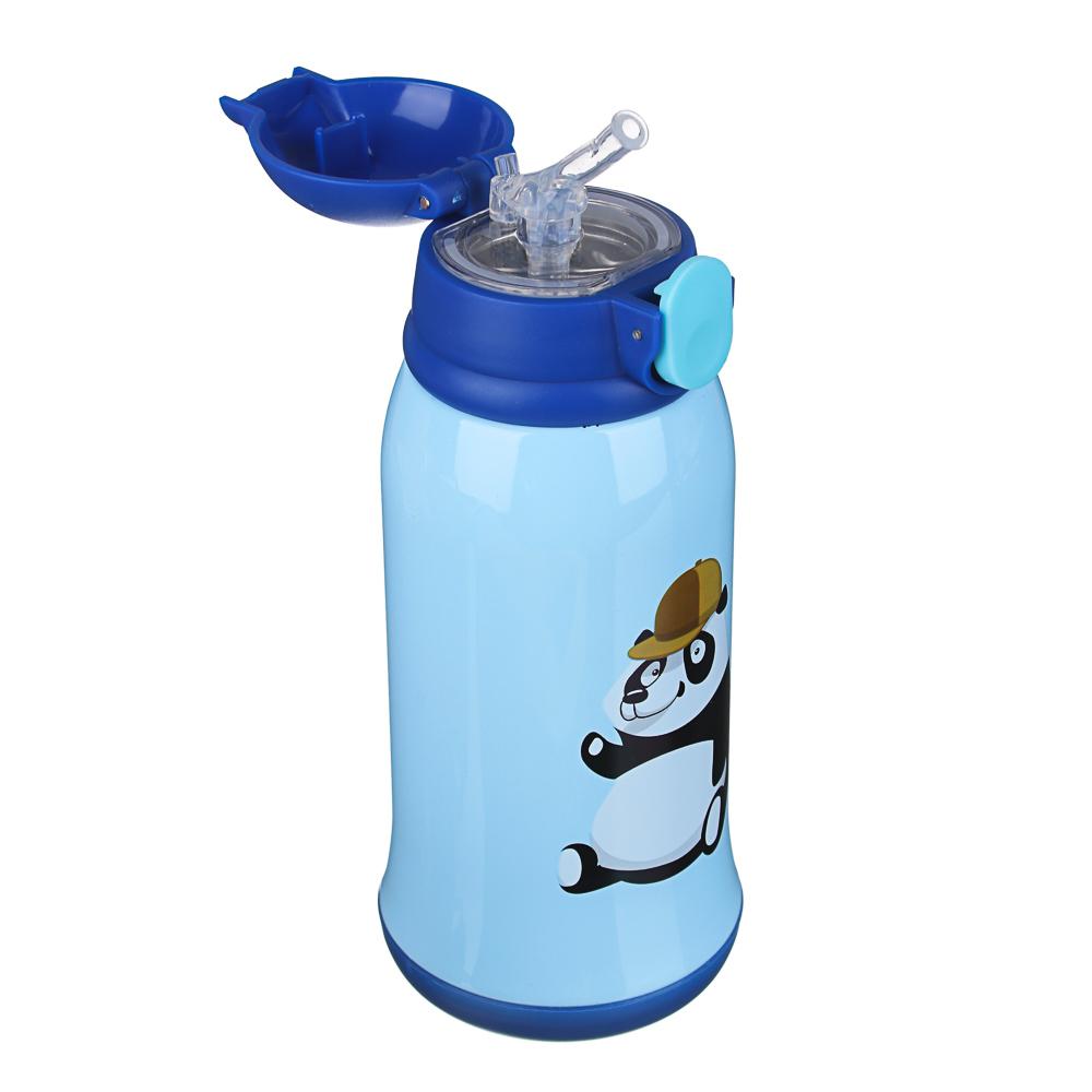 Термос детский в чехле 500 мл, пластик/сталь 3 дизайна - 4