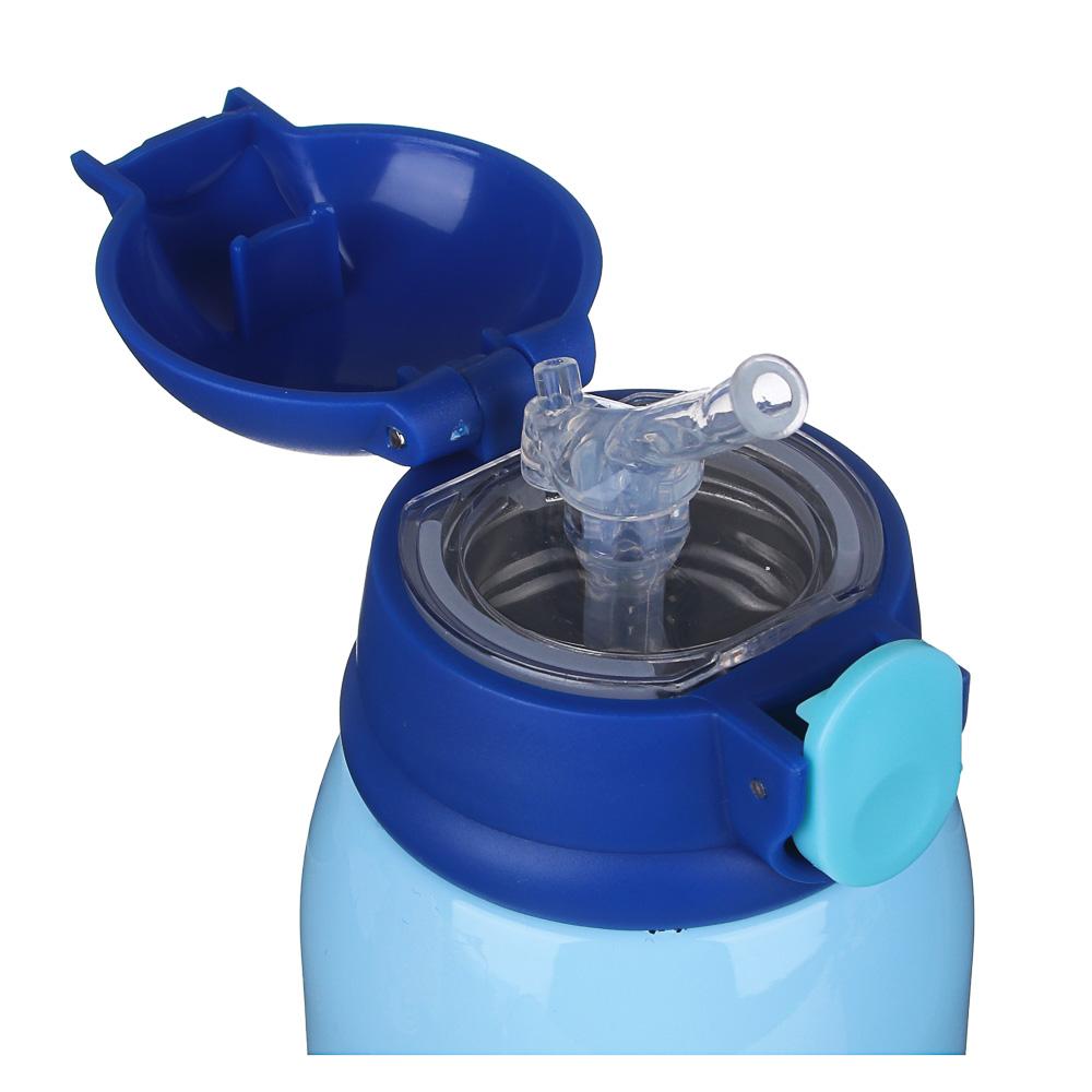 Термос детский в чехле 500 мл, пластик/сталь 3 дизайна - 5
