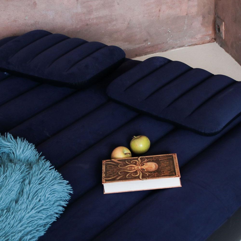 """Кровать надувная, ручной насос, 2 подушки, FIBER-TECH, 152х203х25 см, INTEX """"Classic downy Квин"""", 64 - 4"""