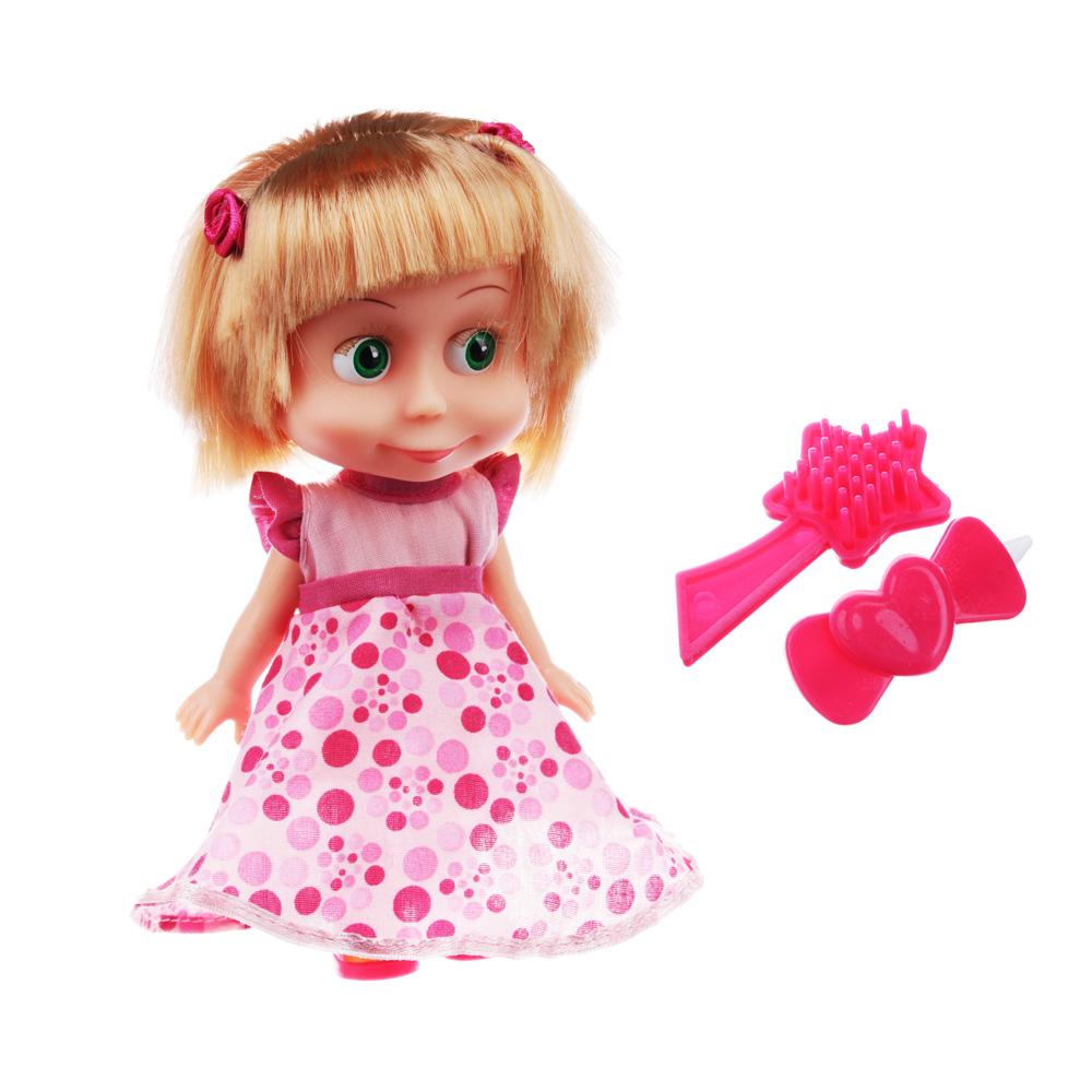 КАРАПУЗ Кукла интерактивная Маша 15см, пластмасса, мягк.туловище, бат.LR44, 12х18х8см, 2 дизайна - 2