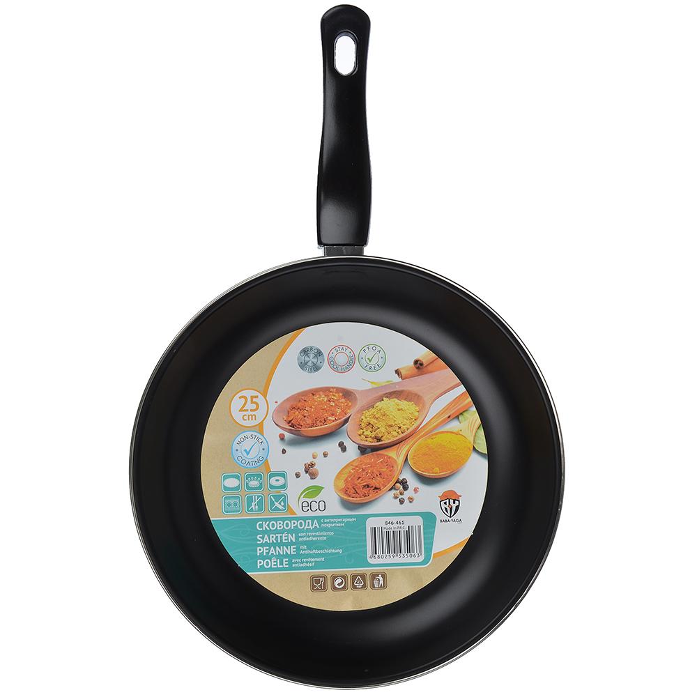 Сковорода d. 25 см, с антипригарным покрытием, углеродистая сталь - 4