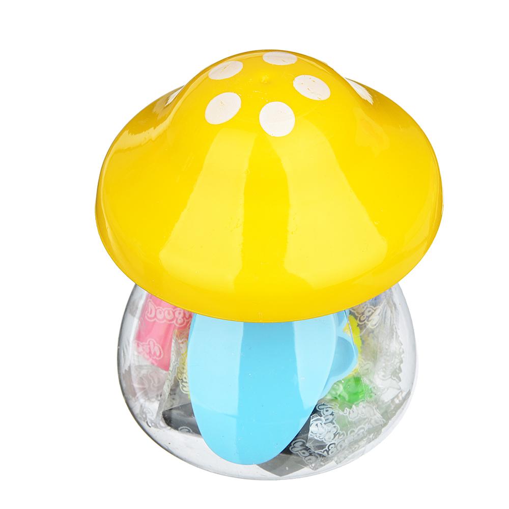 """ХОББИХИТ Тесто для лепки """"Грибочек"""", в наборе 7 цветов, 3 формы, тесто, пластик, 7х9,8х7см, 3 цвета - 2"""