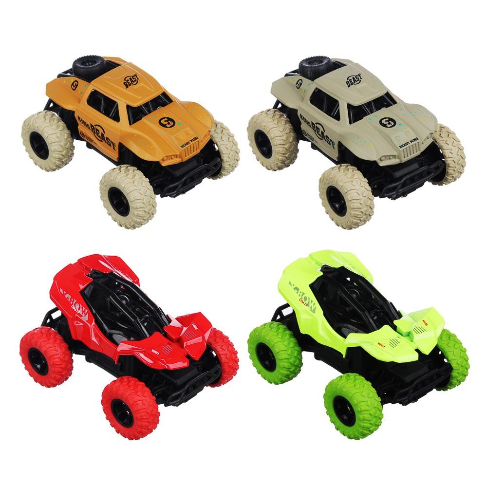 ИГРОЛЕНД Машинка инерционная, 1:36, пластик, металл, 11х8х5,5см, 4 дизайна - 3