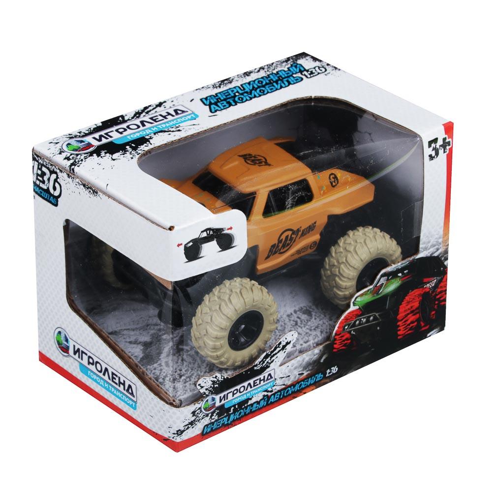 ИГРОЛЕНД Машинка инерционная, 1:36, пластик, металл, 11х8х5,5см, 4 дизайна - 5