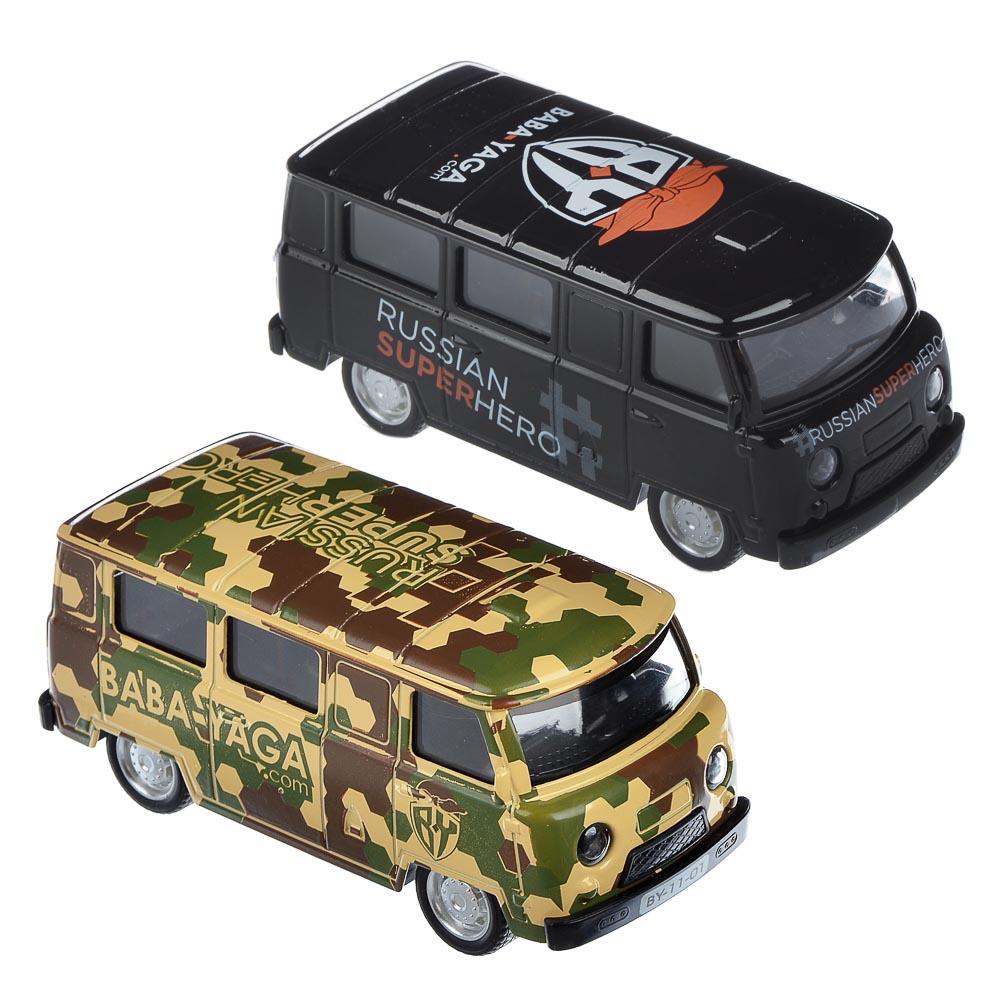 """ИГРОЛЕНД Машинка """"Микроавтобус BY"""", металл, свет+звук+инерция, 2 дизайна, 11х4,5х4,5см - 2"""