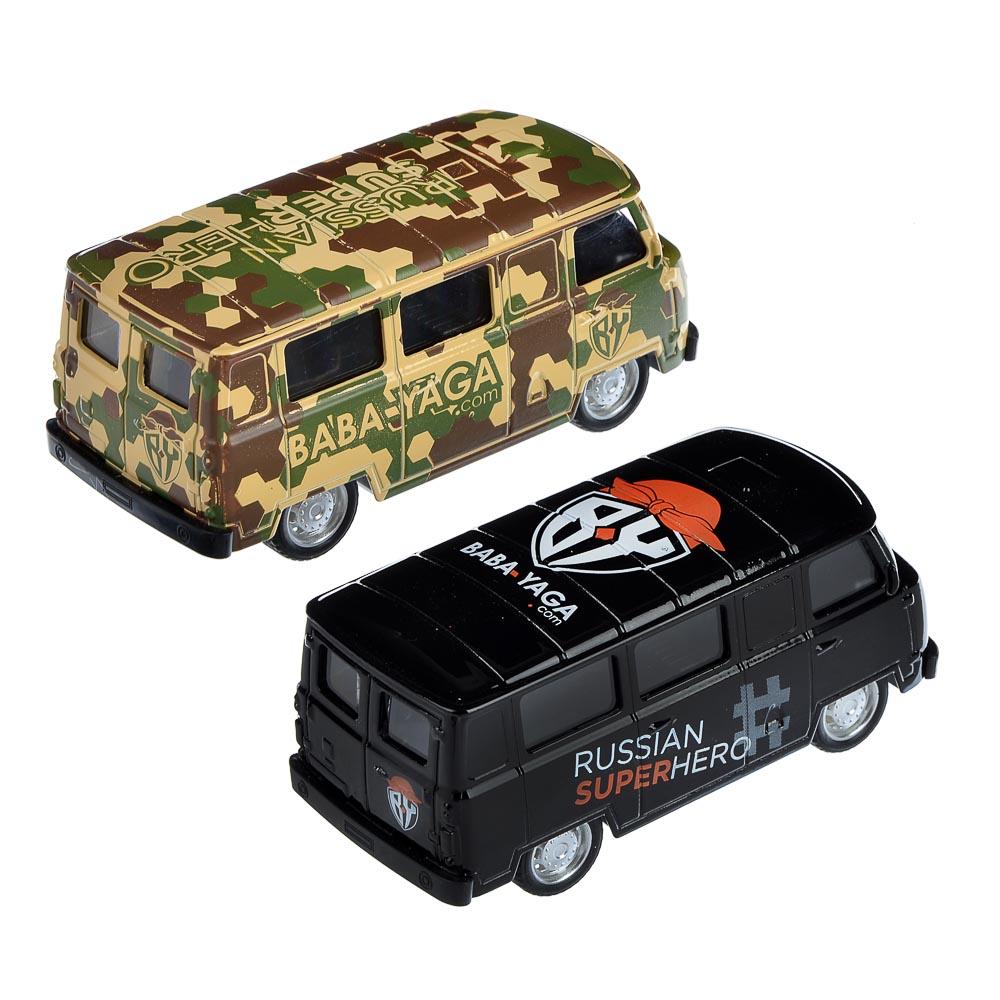 """ИГРОЛЕНД Машинка """"Микроавтобус BY"""", металл, свет+звук+инерция, 2 дизайна, 11х4,5х4,5см - 3"""