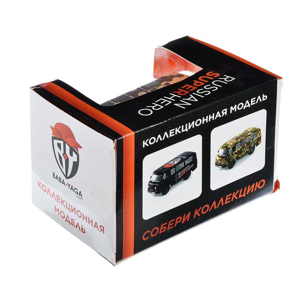 """ИГРОЛЕНД Машинка """"Микроавтобус BY"""", металл, свет+звук+инерция, 2 дизайна, 11х4,5х4,5см - 5"""