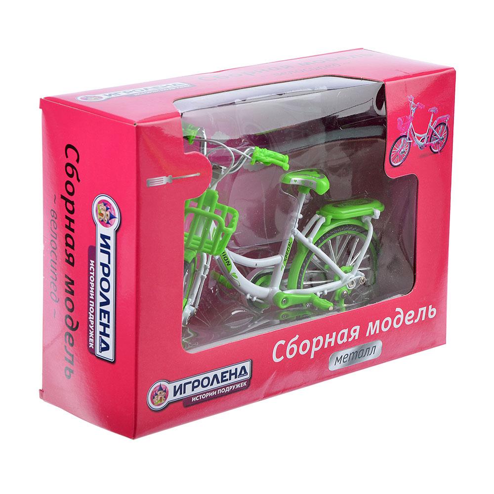 ИГРОЛЕНД Велосипед сборный, металл, 18х13х7см, 2 дизайна - 2
