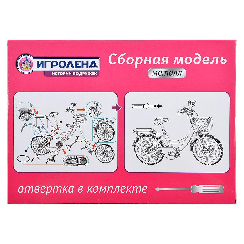 ИГРОЛЕНД Велосипед сборный, металл, 18х13х7см, 2 дизайна - 5