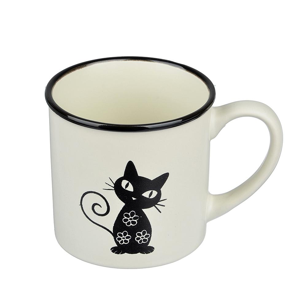 Черная кошка Кружка, 310мл, керамика, 4 цвета - 2