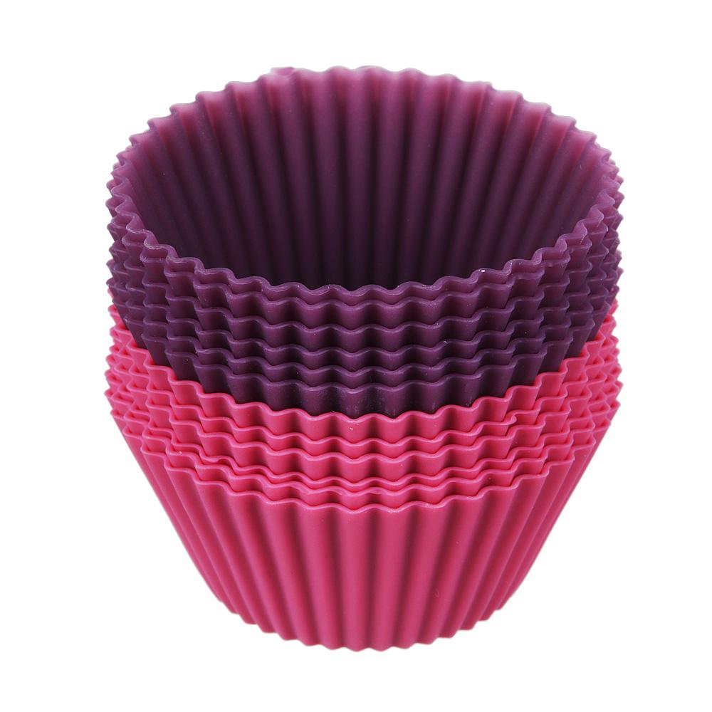 Набор форм для выпечки кексов SATOSHI Алион 6шт, 7x3см, силикон - 2