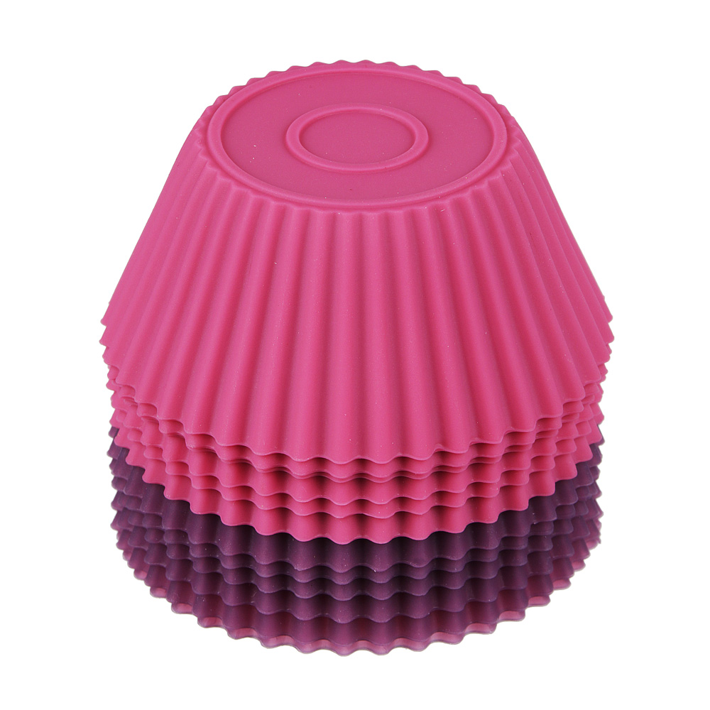 Набор форм для выпечки кексов SATOSHI Алион 6шт, 7x3см, силикон - 3