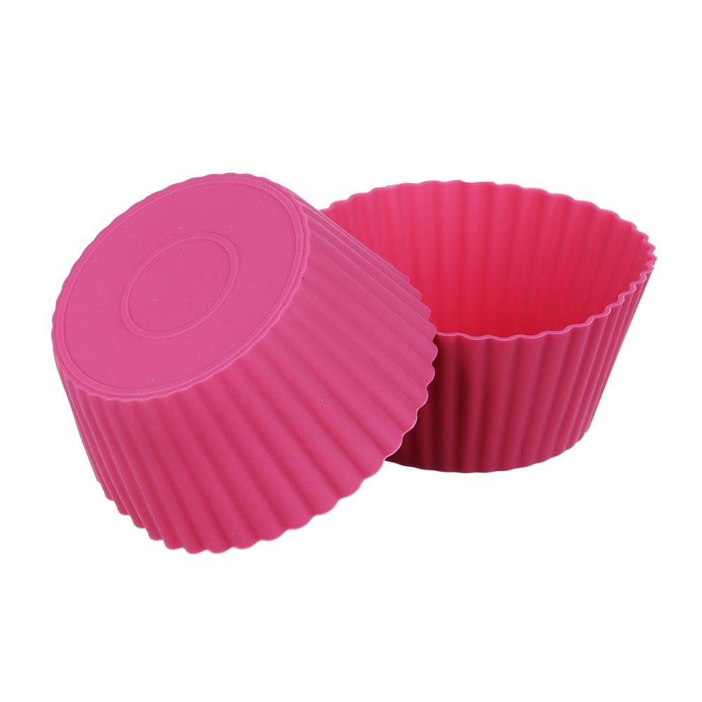 Набор форм для выпечки кексов SATOSHI Алион 6шт, 9,5x4,4см, силикон - 4