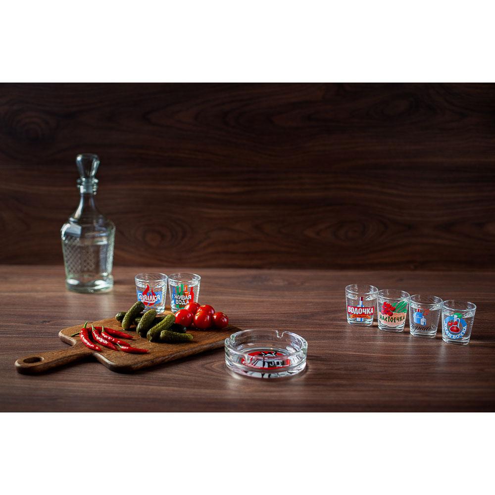 Набор для водки 7 предметов, стекло - 12