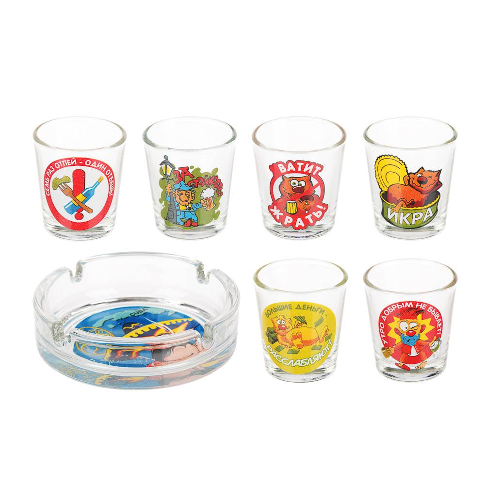 Набор для водки 7 предметов, стекло - 4