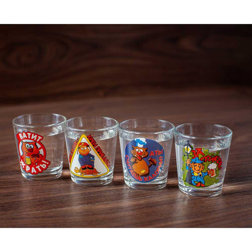 Набор для водки 7 предметов, стекло - 7