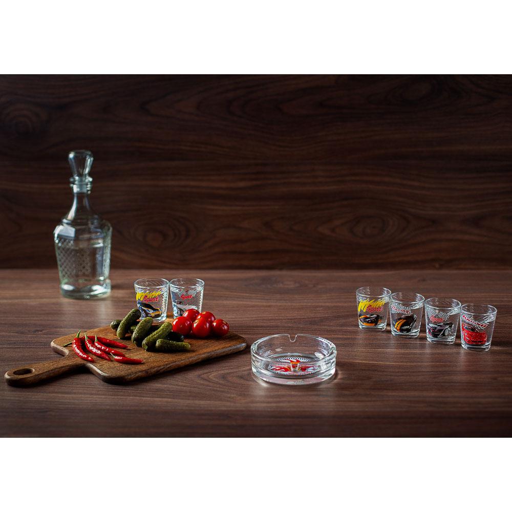 Набор для водки 7 предметов, стекло - 10