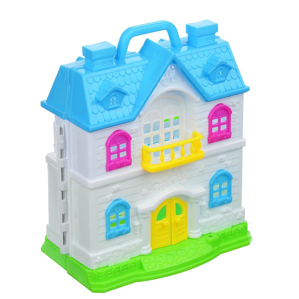 """ИГРОЛЕНД Набор """"Дом для куклы с мебелью и куклой"""", пластик, 38х28х5,2см - 3"""