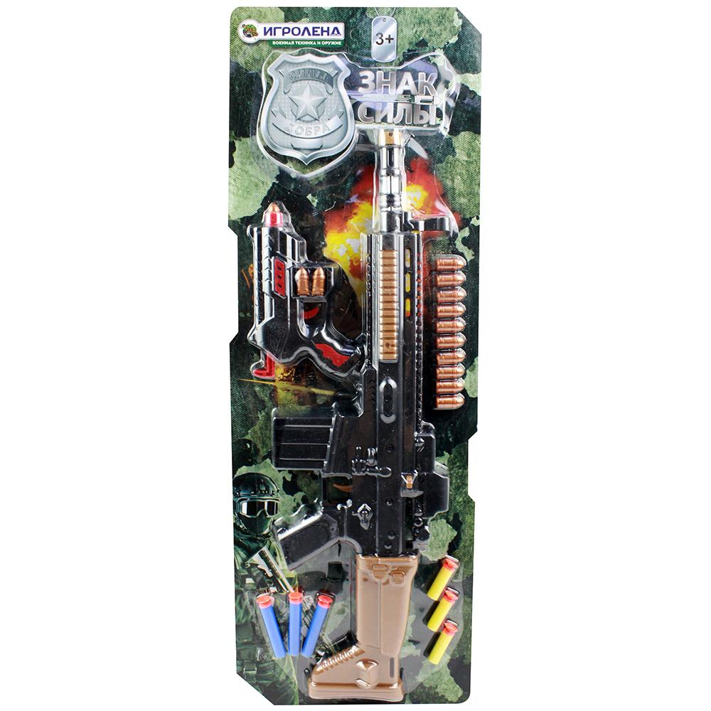 ИГРОЛЕНД Набор оружия с резиновыми и поролоновыми пулями, ABS, PVC, 49х15х4см - 2