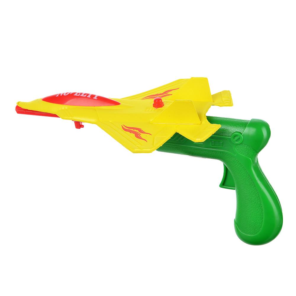 ИГРОЛЕНД Самолет-планер со стартером, пластик,19х4х28см, 2 цвета - 2