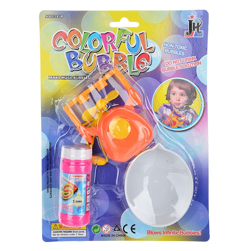 Мыльные пузыри с пропеллером на батарейках, 2ААА, 3 пр., мыльный р-р 60мл, пластик, 19х26х3см - 2
