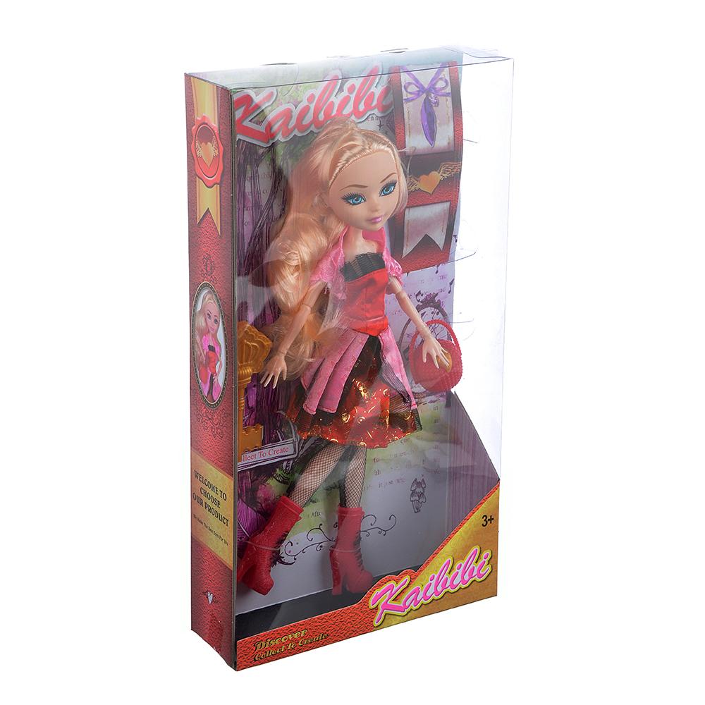 Кукла шарнирная в бальном платье, 29см, пластик, полиэстер, 4 дизайна - 3