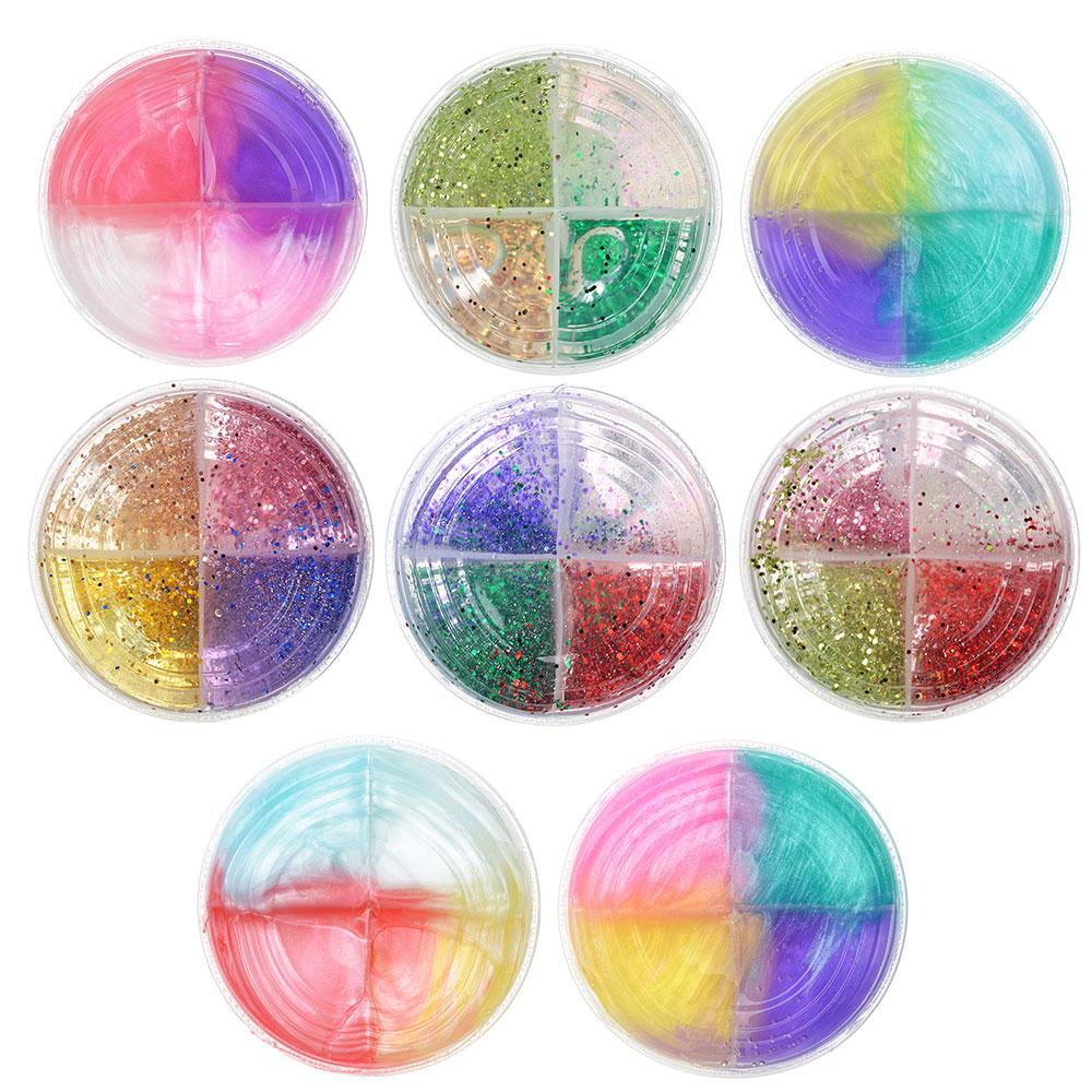 Слайм, в наборе 4 цвета, 8,5х4см, полимер, 2 дизайна, 6-8 цветов - 3