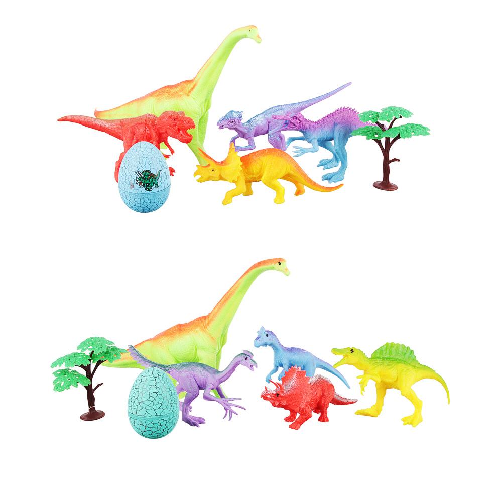 ИГРОЛЕНД Набор фигурок динозавров, 7пр., ПВХ, ПС, 47x27x6см, 2 дизайна - 3