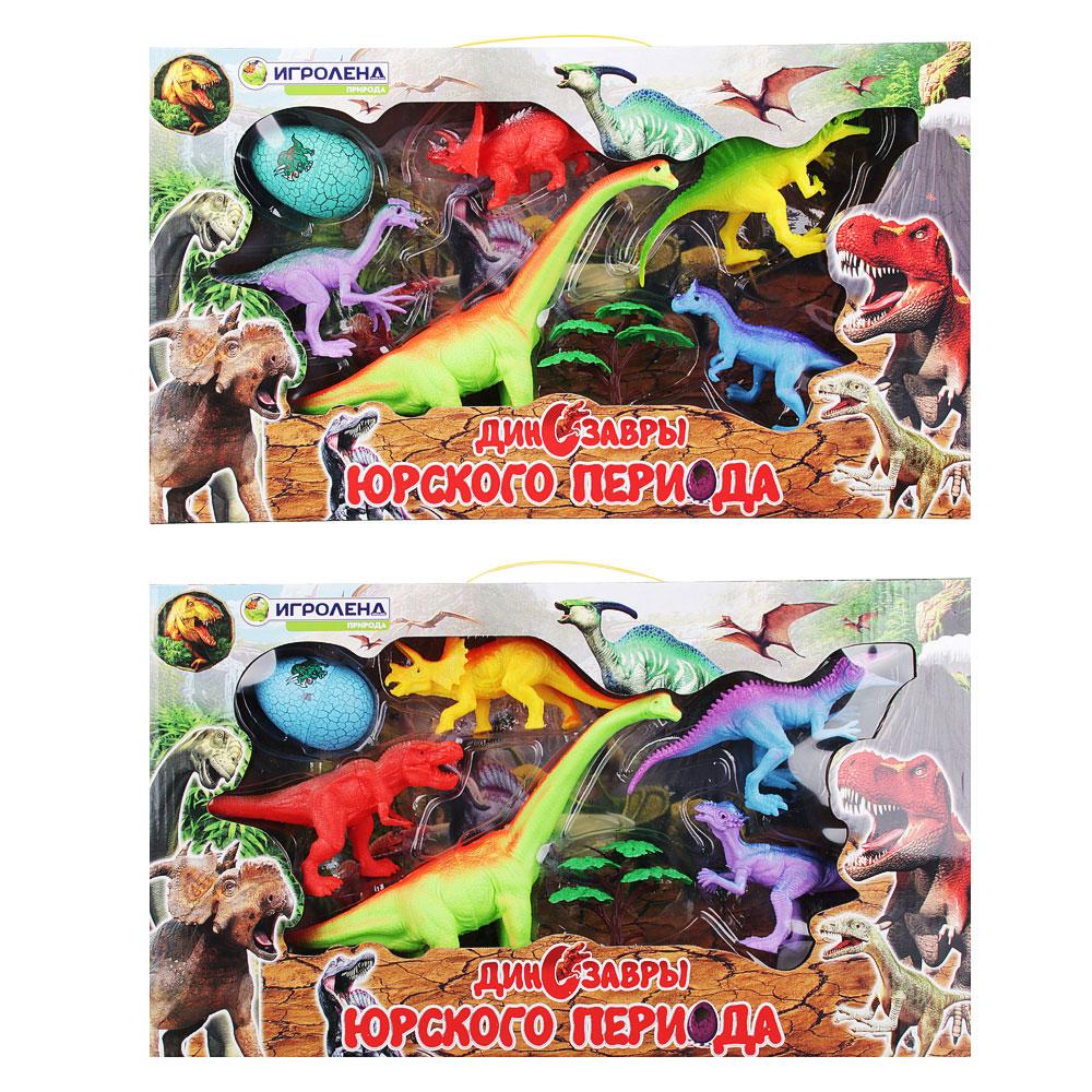 ИГРОЛЕНД Набор фигурок динозавров, 7пр., ПВХ, ПС, 47x27x6см, 2 дизайна - 4