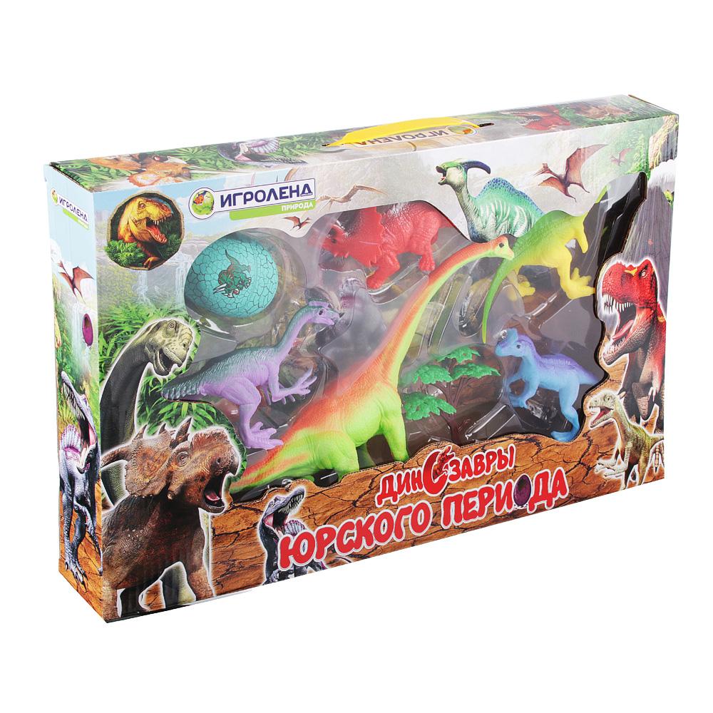 ИГРОЛЕНД Набор фигурок динозавров, 7пр., ПВХ, ПС, 47x27x6см, 2 дизайна - 5