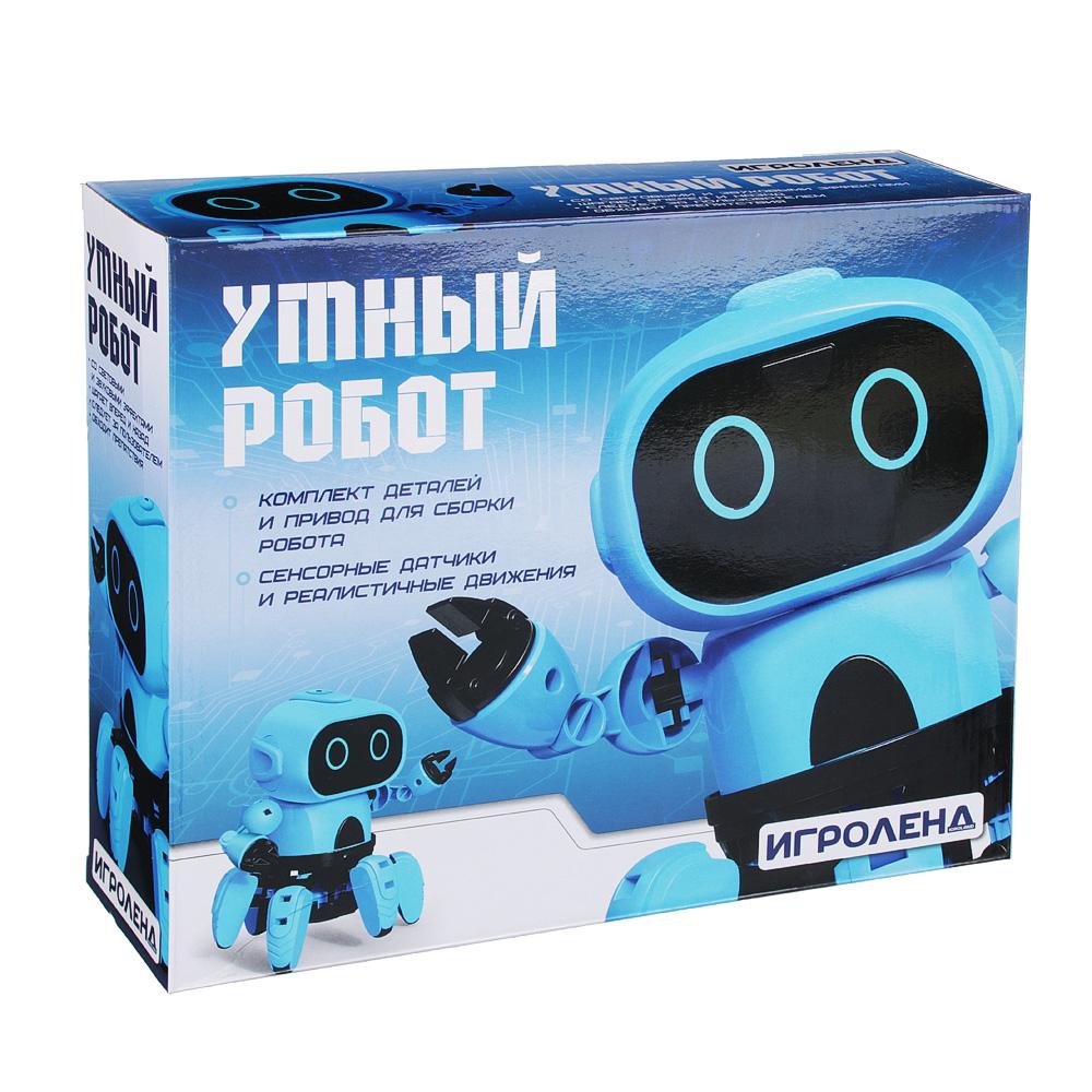 ИГРОЛЕНД Конструктор в виде робота с сенсорными датчиками, ABS, пит.4х1.5VAAA,16х12х12см - 3