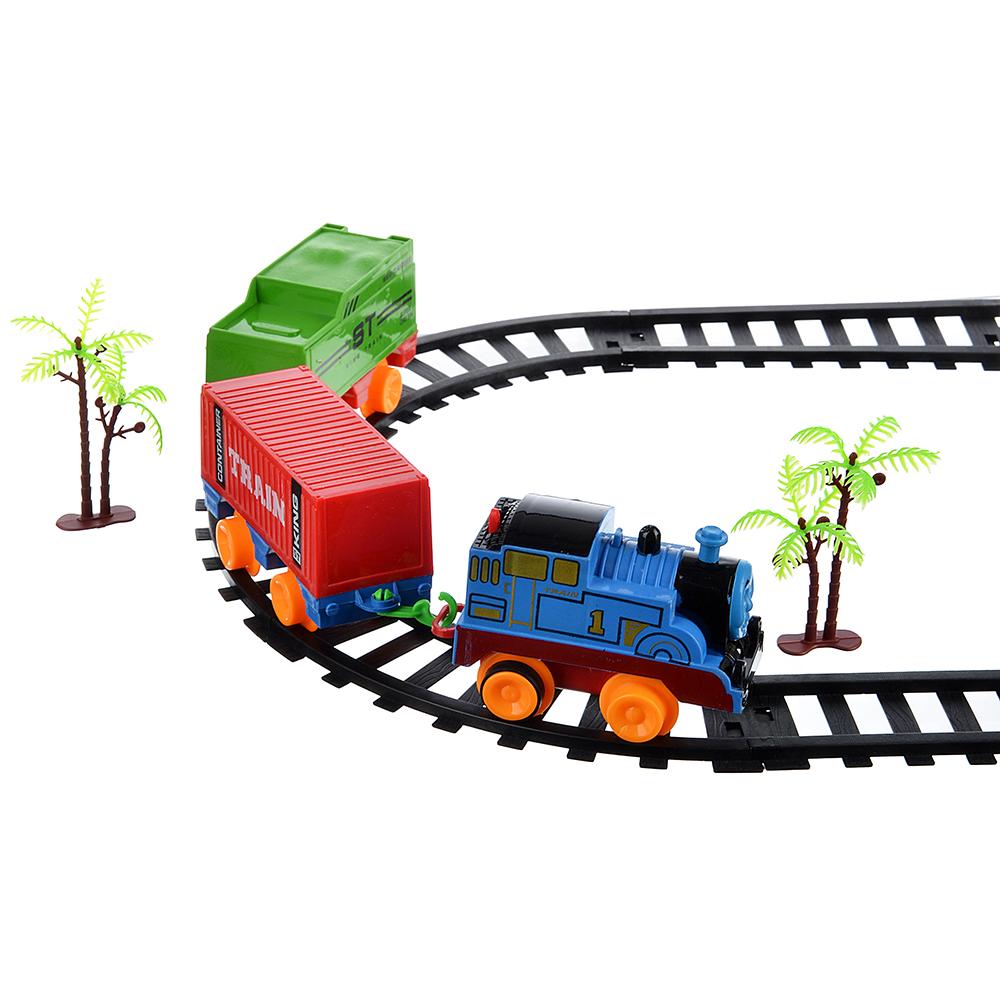 ИГРОЛЕНД Поезд 2 вагона с рельсами,движение,2хАА ,пластик, 38,6x28,6x4,5см - 2