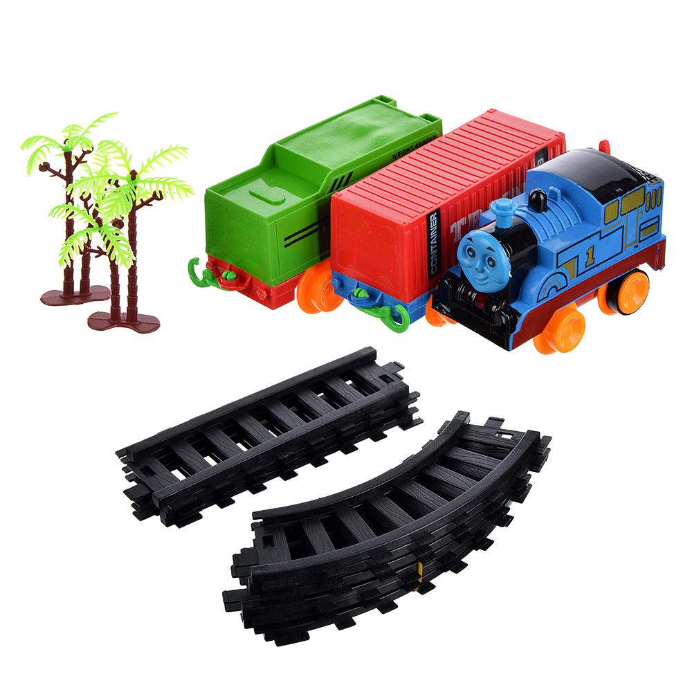 ИГРОЛЕНД Поезд 2 вагона с рельсами,движение,2хАА ,пластик, 38,6x28,6x4,5см - 3