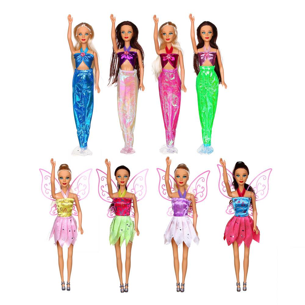 ИГРОЛЕНД Кукла с хвостом русалки,свет,3хAG3, ABS,PVC, 25x40х6см, 3 дизайна - 2