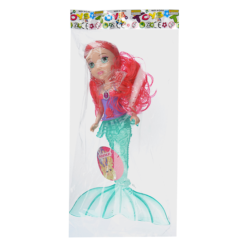 ИГРОЛЕНД Кукла с хвостом русалки,свет,3хAG3, ABS,PVC, 25x40х6см, 3 дизайна - 4