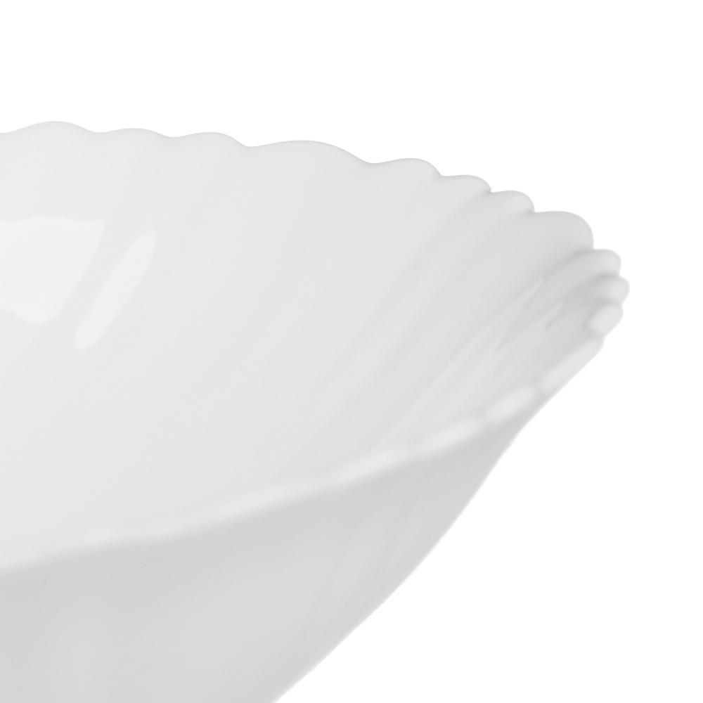 """Набор столовой посуды 19 предметов, опаловое стекло, MILLIMI """"Бьянко"""" - 4"""
