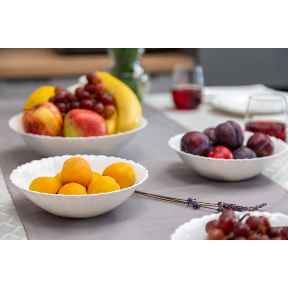 """Набор столовой посуды 19 предметов, опаловое стекло, MILLIMI """"Бьянко"""" - 7"""