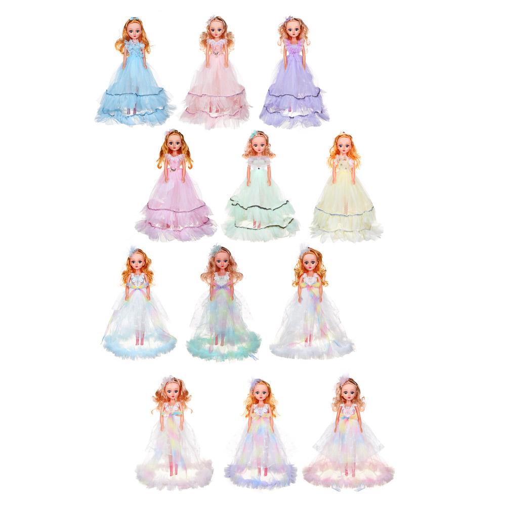 ИГРОЛЕНД Кукла классическая в пышном платье, 35-45см, пластик, полиэстер, 4-8 цветов - 2