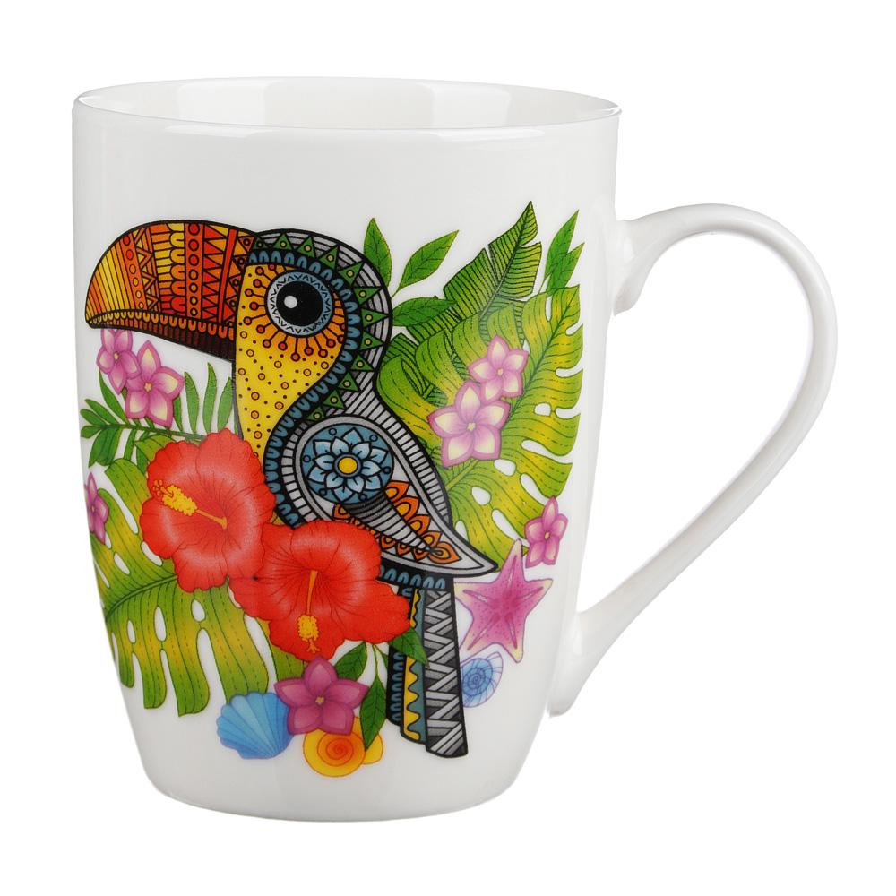 Кружка 350 мл, MILLIMI Тропические птицы, керамика, 4 дизайна - 2