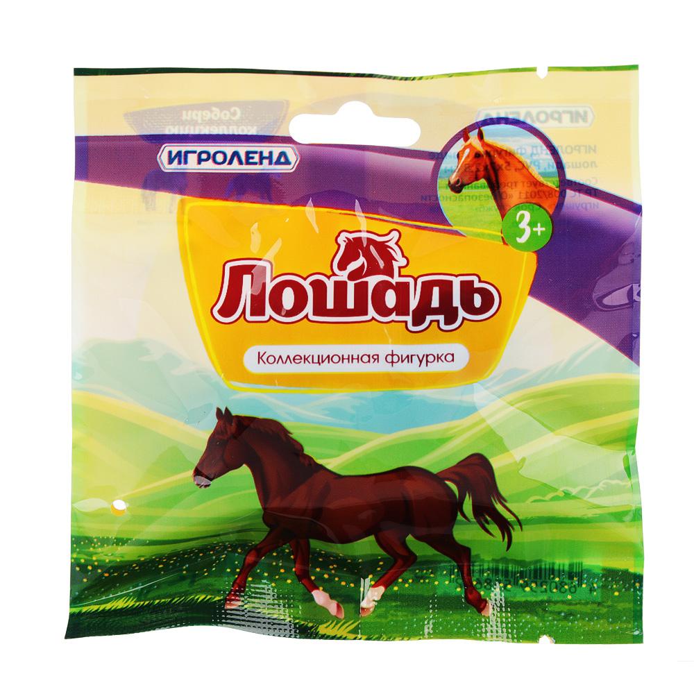 ИГРОЛЕНД Фигурка в виде лошади, PVC, 5х7х2,8см, 12-24 дизайна - 4