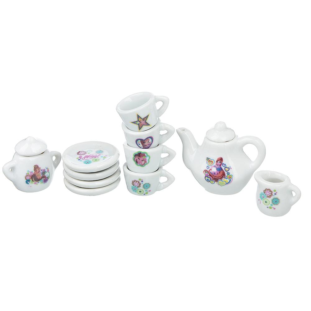 Набор керамической посуды для кукол, 11пр., керамика, 14х4х15см - 2