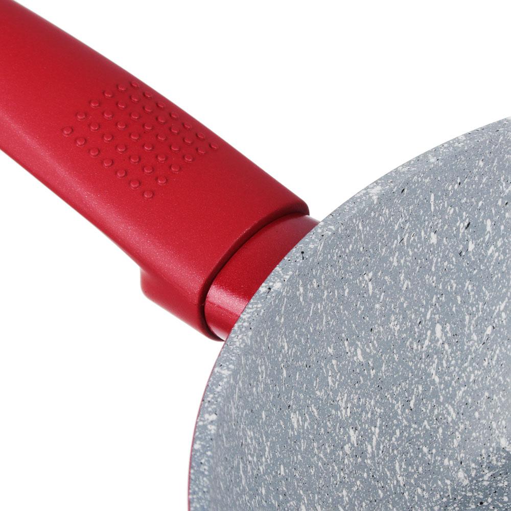SATOSHI Верден Сотейник литой d. 24см, антипригарное покрытие мрамор, индукция - 3