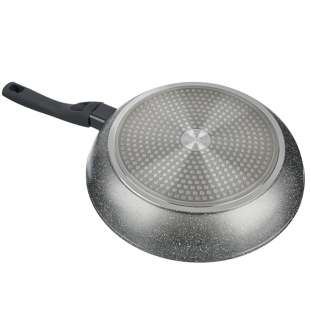 SATOSHI Стенвиль Сковорода литая d. 28см, антипригарное покрытие мрамор, индукция - 2