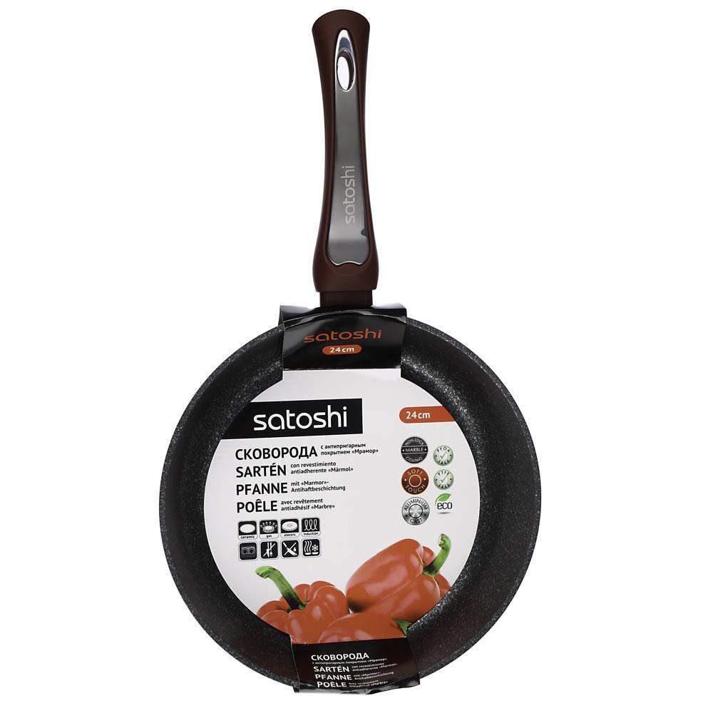Сковорода литая d. 24 см SATOSHI Ла Мери, антипригарное покрытие, индукция - 4