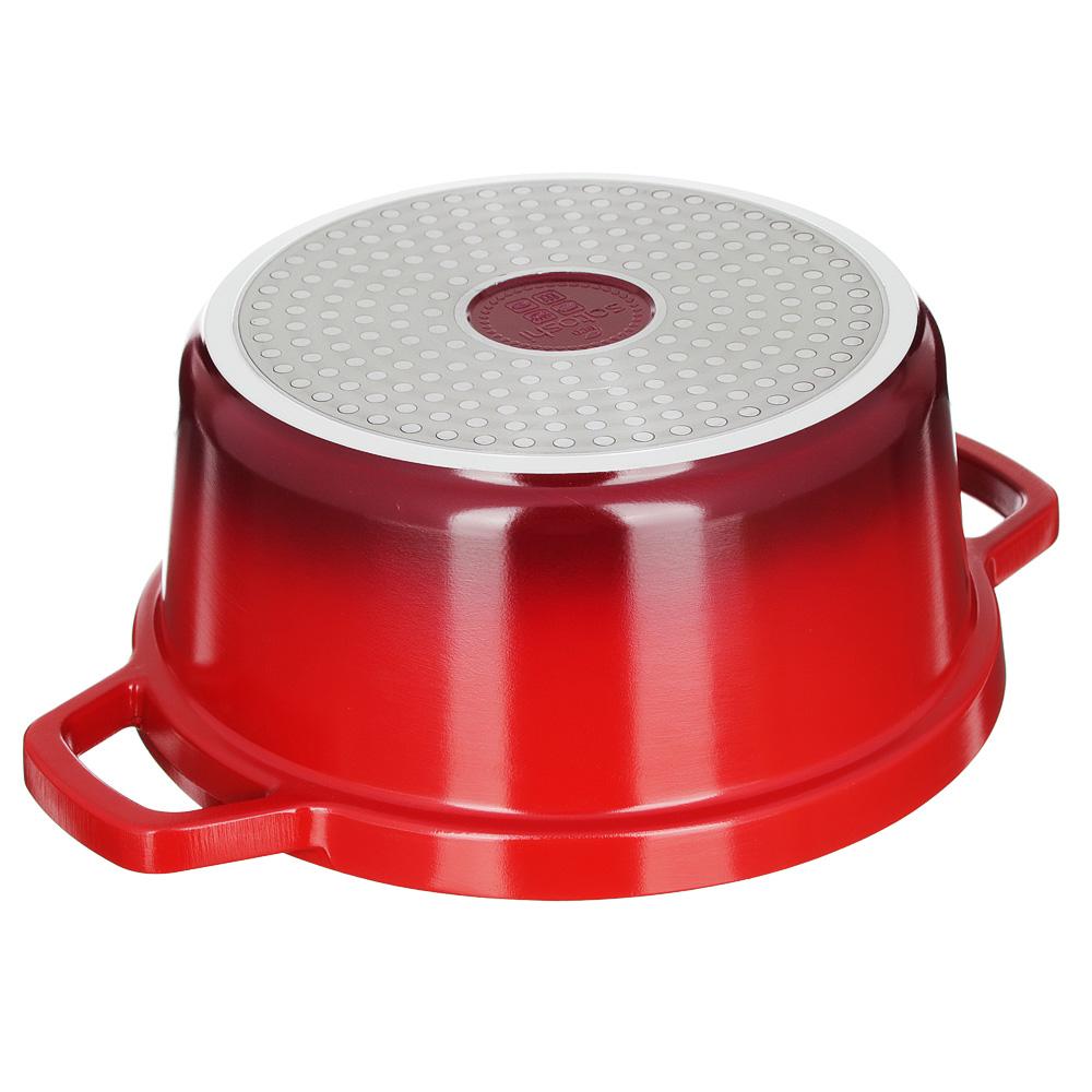 Кастрюля литая с крышкой 4,06 л SATOSHI Ла Шапель, антипригарное покрытие, индукция - 4