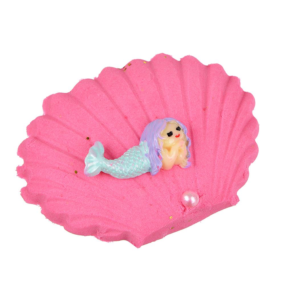 Ракушка с русалкой в кинетическом песке, пластик, кварц. песок, 9х7см, 4-8 цветов - 2